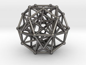Tensegrity • Icosidodecahedron in Polished Nickel Steel
