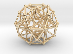 Tensegrity • Icosidodecahedron in 14k Gold Plated Brass