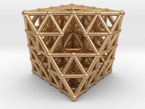Octahedron fractal  in Natural Bronze