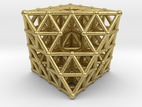 Octahedron fractal  in Natural Brass