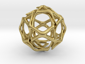 Icosidodecahedron Twisted members  in Natural Brass