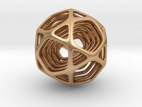 Icosidodecahedron Nested in Natural Bronze