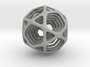 Icosidodecahedron Nested in Aluminum