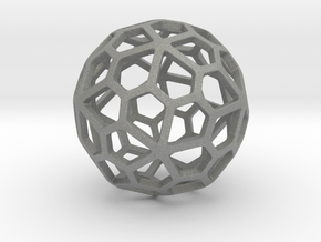 Pentagonal Hexecontahedron in Gray PA12: Small
