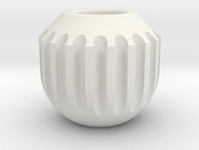Bead1 in White Natural Versatile Plastic
