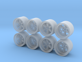 TE37V MK2 11x8mm 1/43 Scale Wheels in Smoothest Fine Detail Plastic