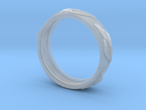 Wolf Ring in Smooth Fine Detail Plastic: 9.75 / 60.875
