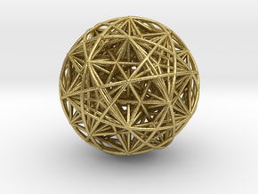 Hedron Star compound in Natural Brass