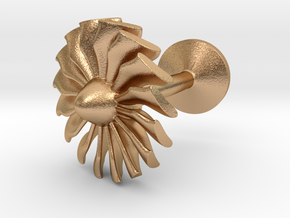Airliner engine fan cufflink in Natural Bronze