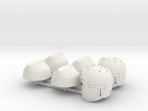 CALOT GENDARMERIE + TANKISTE US in White Natural Versatile Plastic
