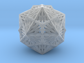 Icosahedron Dodecahedron Compound in Smooth Fine Detail Plastic
