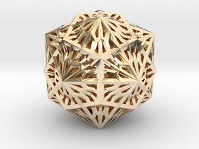 Icosahedron Dodecahedron Compound in 14K Yellow Gold