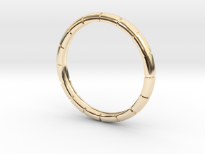 Traditional Ribbed Bracelet in 14K Yellow Gold