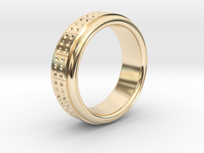 Men's Band Ring #2 in 14k Gold Plated Brass