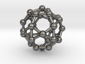 0817 J34 Pentagonal Orthobirotunda (a=1cm) #3 in Polished Nickel Steel