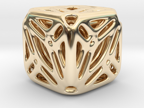 Nested Tessellated Cube in 14K Yellow Gold