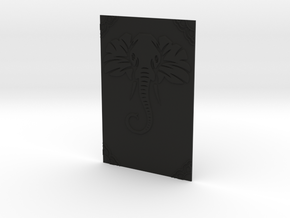 A5 elephant book cover  in Black Natural Versatile Plastic