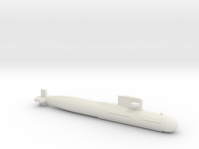 PLA[N] 093B Submarine, Full Hull, 1/2400 in White Natural Versatile Plastic