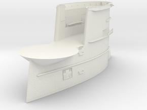 1/16 DKM U-Boot VII/C Conning Tower v2 in White Natural Versatile Plastic