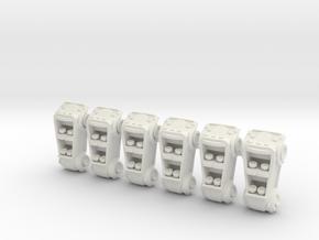 Hamptoncars in White Natural Versatile Plastic