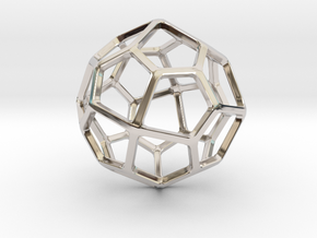 Pentagonal Icositetrahedron in Rhodium Plated Brass: Small