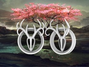 2 Inch Antler Tunnels in White Strong & Flexible Polished
