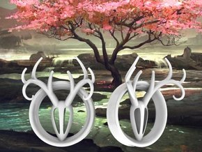 1 & 7/8 inch Antler Tunnels in White Processed Versatile Plastic