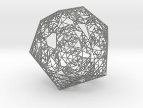 Sierpinski Icosahedron in Gray Professional Plastic