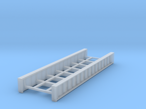 Plate Girder Bridge 60 Foot N 1:160 in Smooth Fine Detail Plastic