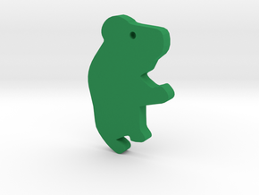 Koala Silhouette Keychain in Green Processed Versatile Plastic