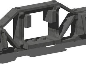 HO 1:87 Flat bottom arch bar side frames for Kadee in Frosted Ultra Detail