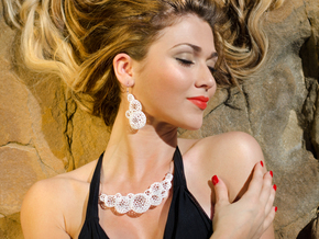 Star Coral Necklace in White Processed Versatile Plastic