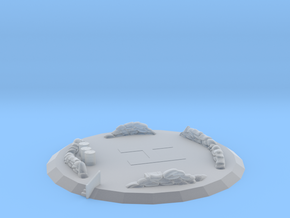 Large Medical Landing Pad in Smooth Fine Detail Plastic