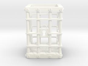 Dice Jail in White Processed Versatile Plastic