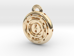 Time Orb in 14k Gold Plated Brass