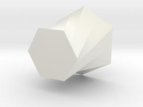 Simple vase in White Natural Versatile Plastic