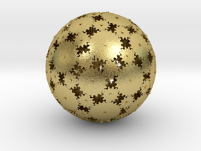 Gearsphere Textured in Natural Brass
