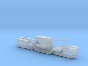 soviet railway artillery TM-1-180 1/285  in Smooth Fine Detail Plastic