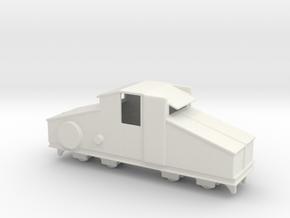 locomotive Locotracteur Crochat 1/76 in White Natural Versatile Plastic