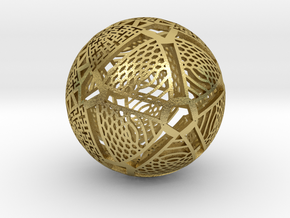 Icosahedron Projection on Sphere in Natural Brass