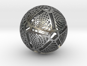 Icosahedron Projection on Sphere in Natural Silver