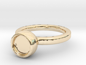 Art Ring Print for memory  in 14K Yellow Gold
