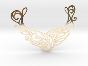 Butterfly pendant in 14k Gold Plated Brass: Large