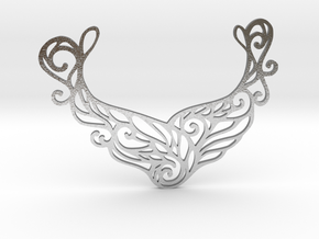 Butterfly pendant in Natural Silver: Large