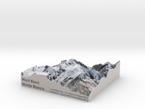 Mont Blanc Map: 1:100K in Matte Full Color Sandstone