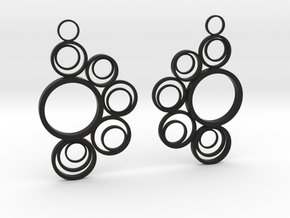 Circle earrings in Black Natural Versatile Plastic
