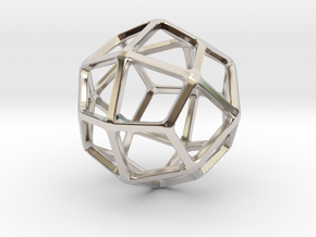 Deltoidal Icositetrahedron in Rhodium Plated Brass: Small