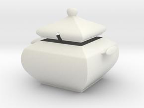 Sugar Bowl in White Natural Versatile Plastic
