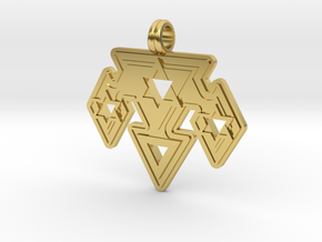 Triangles in Polished Brass