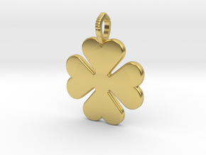 Cloverleaf in Polished Brass
